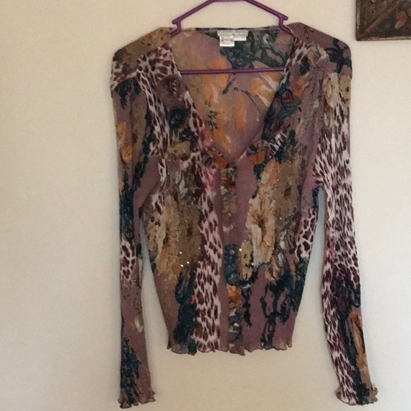 Beautiful Alberto Makali ladies top. Front buttons